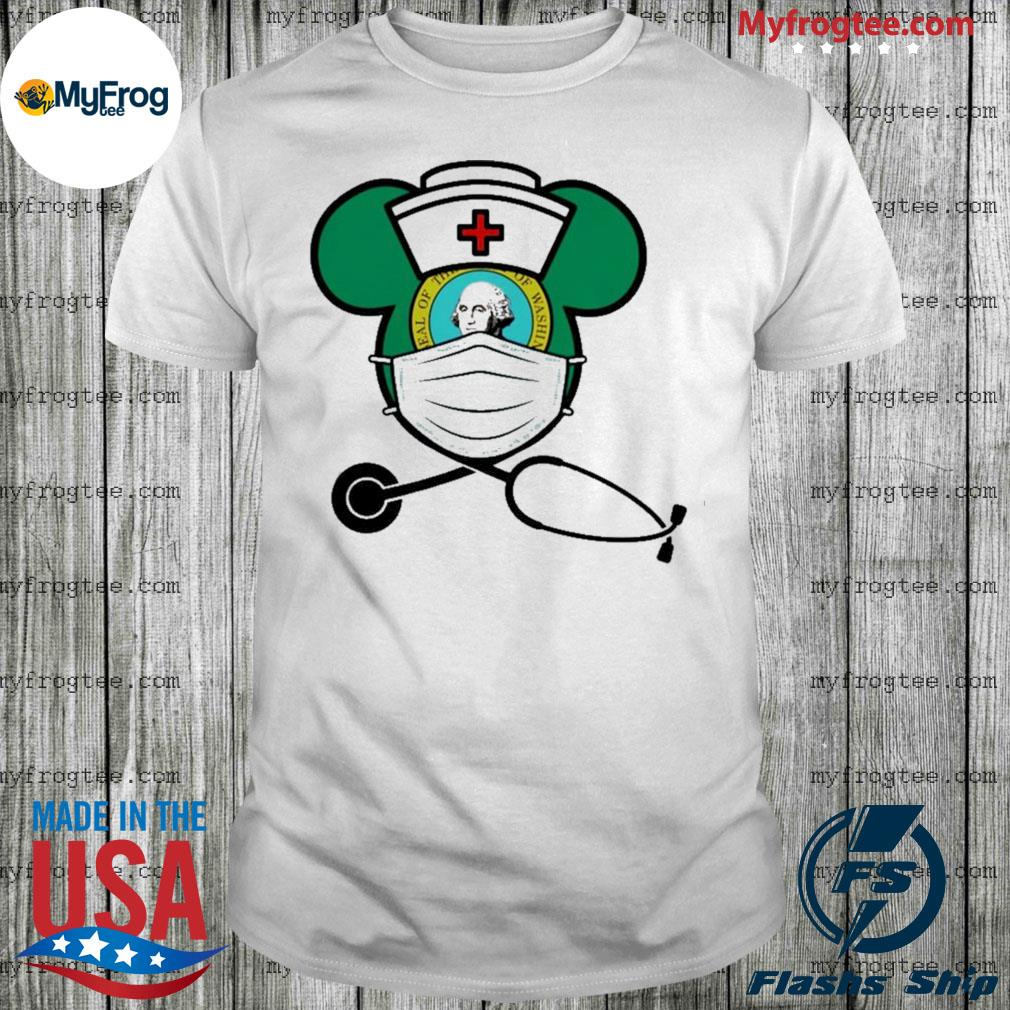 Mickey nurse face mask George Washington shirt