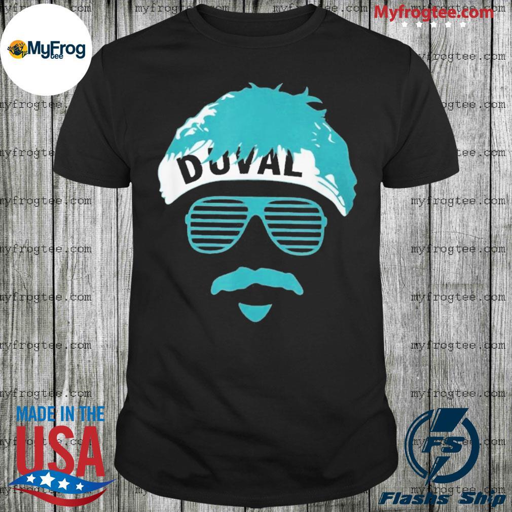 Minshew Headband Mustache glasses Duval teal shirt