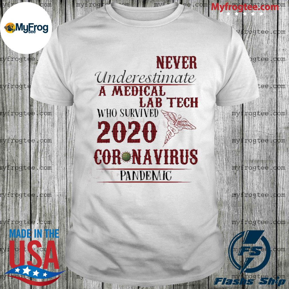 Never underestimate a Medical Lab Tech who survived 2020 Corona Pandemic shirt