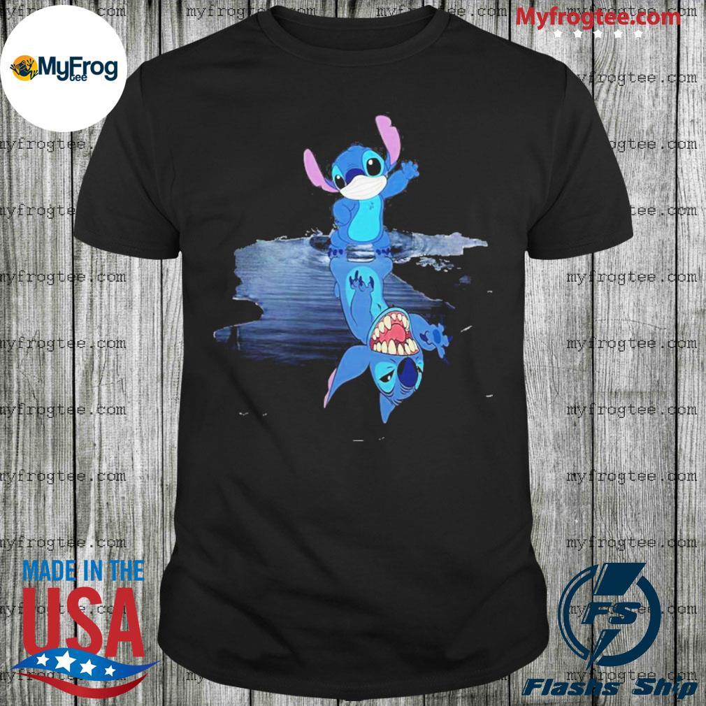 Nice stitch mask water mirror shirt