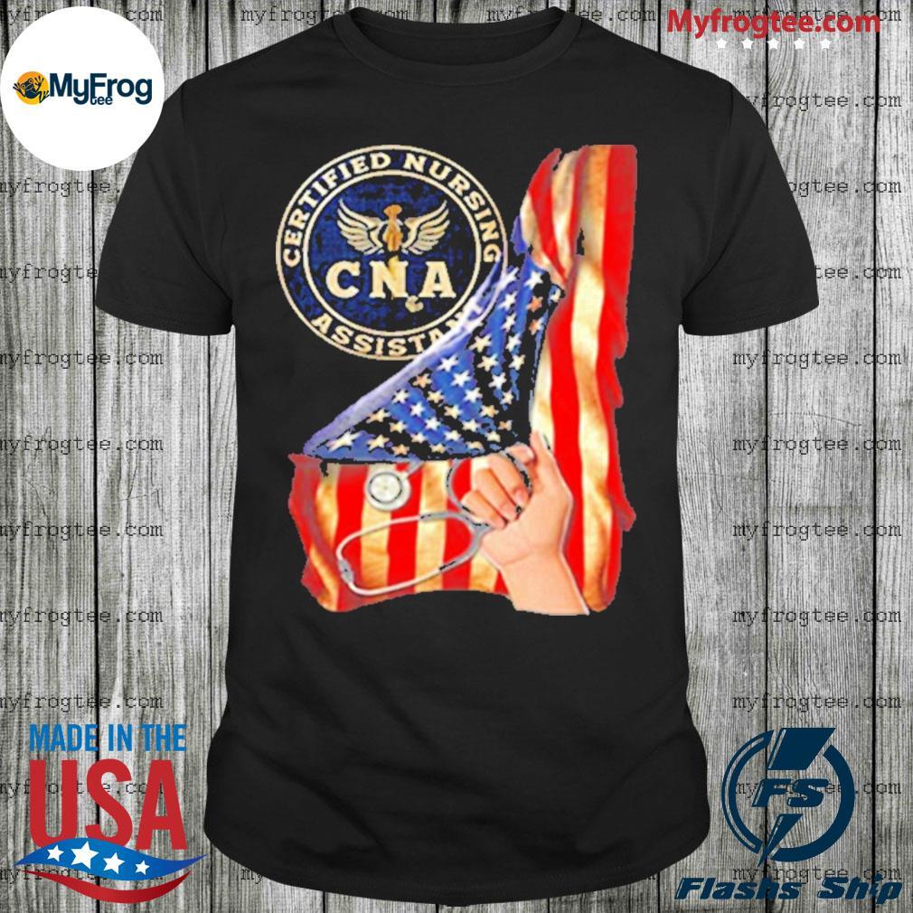 Nurse strong american flag CNA certified nursing assistant shirt