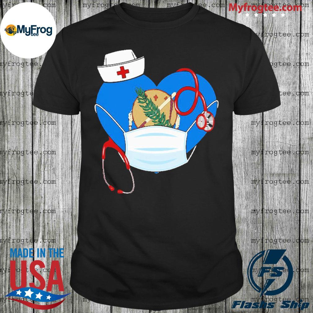 Oklahoma Heart Mask Nurse Shirt