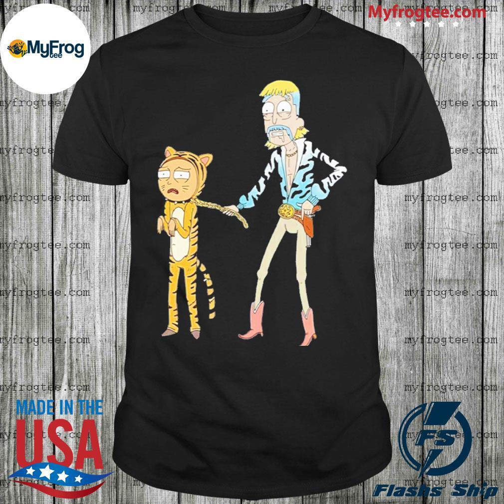 Rick and Morty Joe Exotic Tiger king shirt