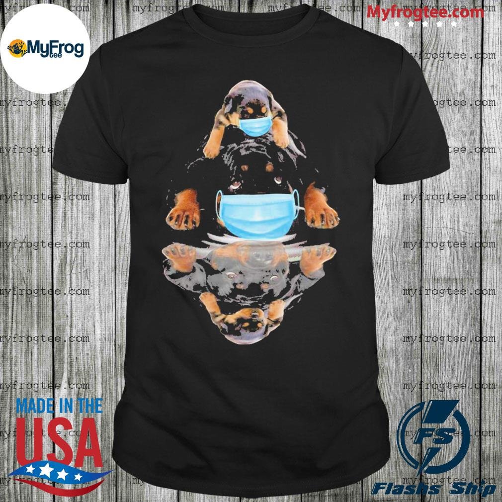 Rottweilers mask water mirror shirt
