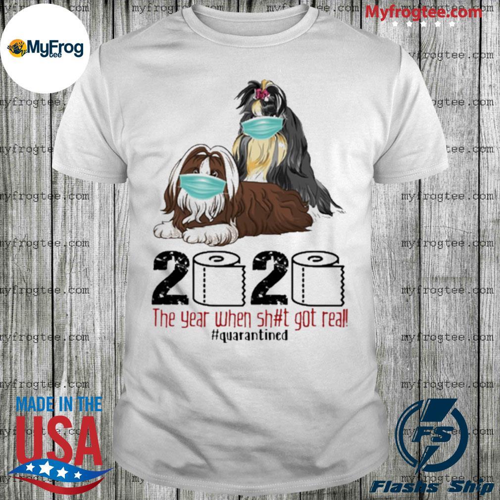 Shih Tzu Quarantined 2020 toilet paper shirt