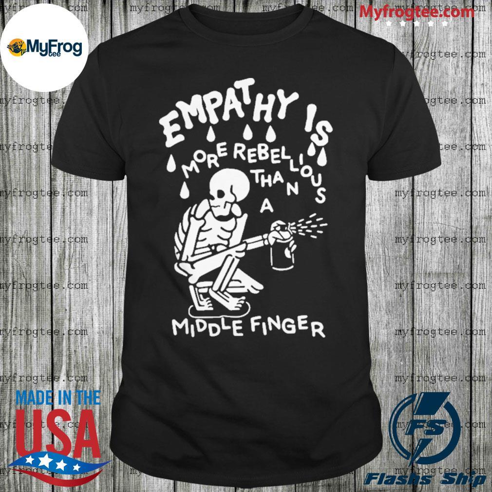 Skull Empat Hy Is Middle Finger Shirt