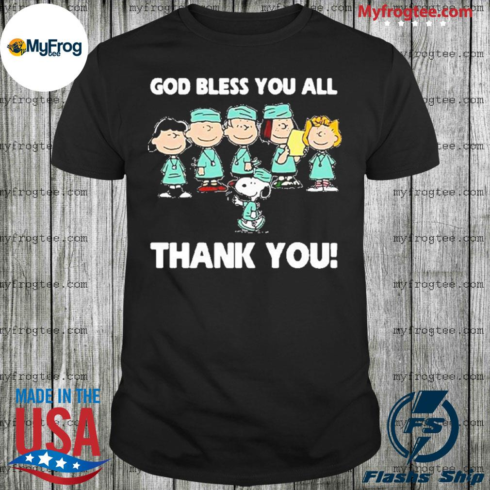 Snoopy and friends God bless you all thank you shirt