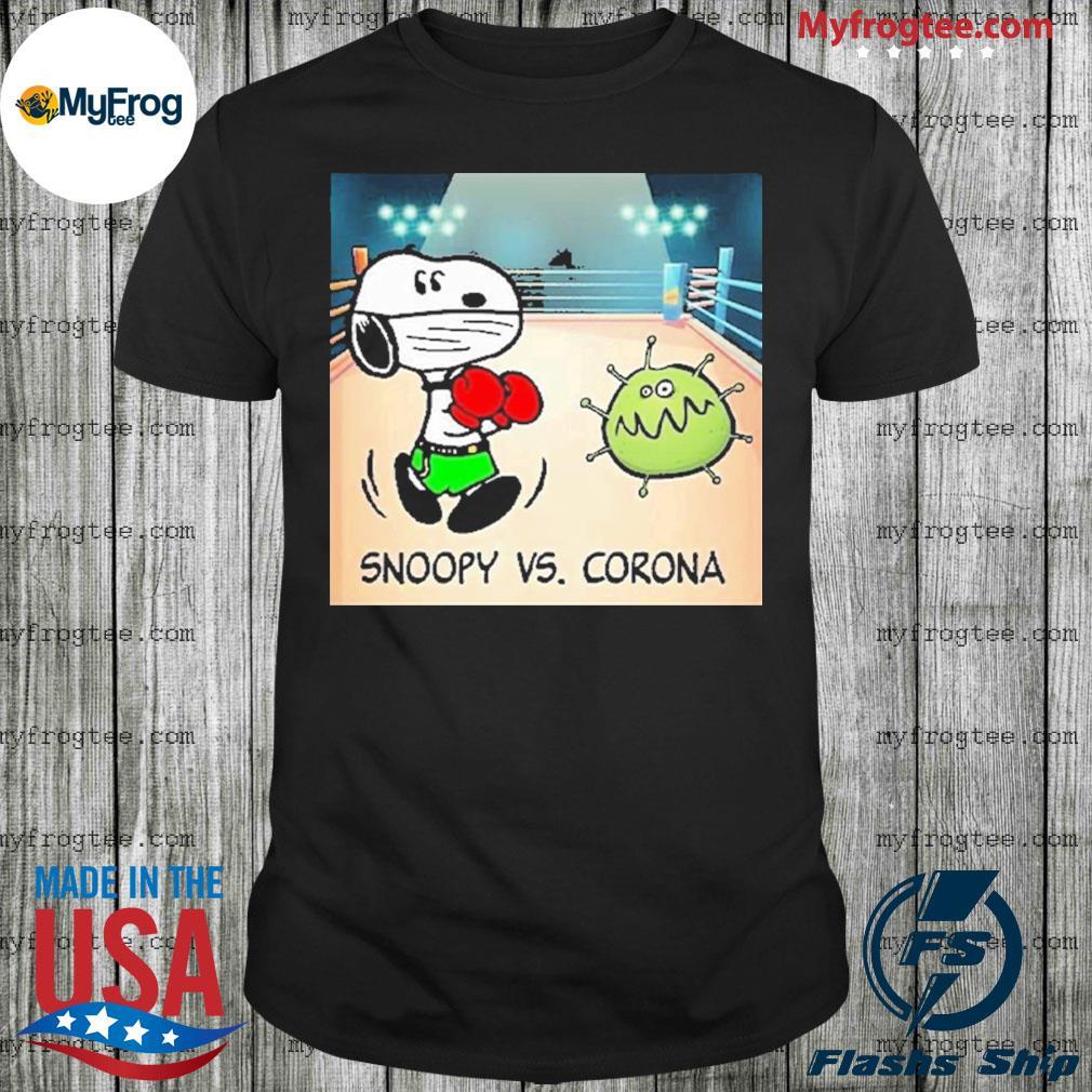 Snoopy fighting vs Corona boxing shirt