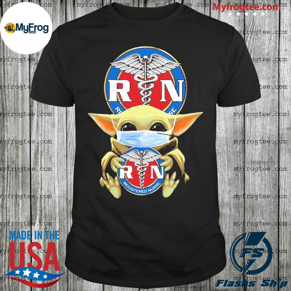 Star Wars Baby Yoda Hug RN Registered Nurse Covid-19 Shirt