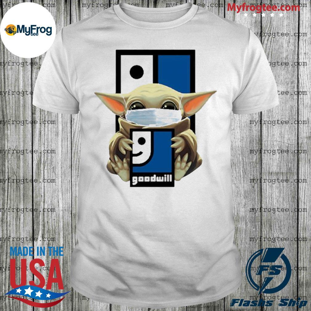 Star Wars Baby Yoda Mask Hug Goodwill Covid-19 Shirt