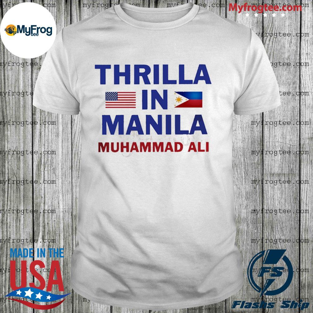 Thrilla in manila muhammad ali shirt