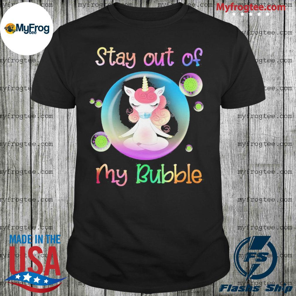 Unicorn yoga stay out my bubble coronavirus mask shirt