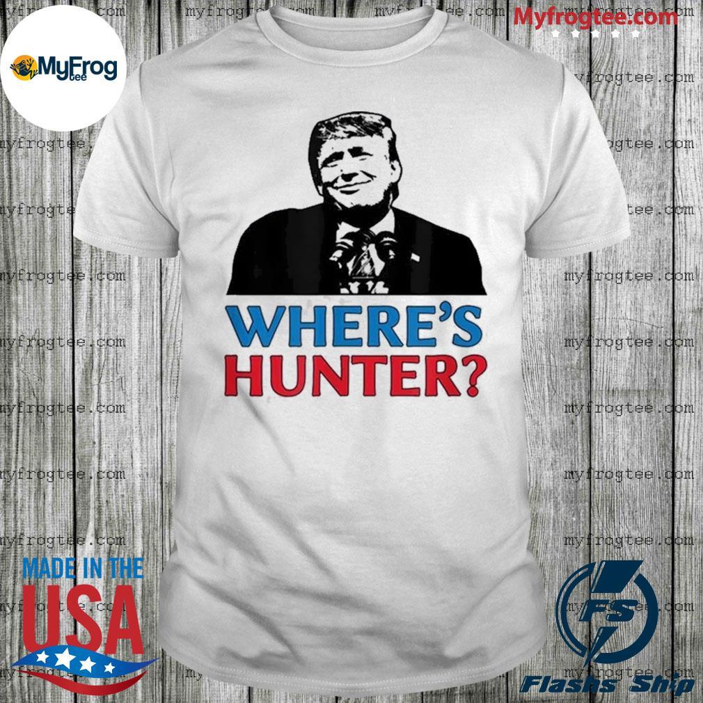 Where's hunter Trump 2020 rally anti biden conservative shirt
