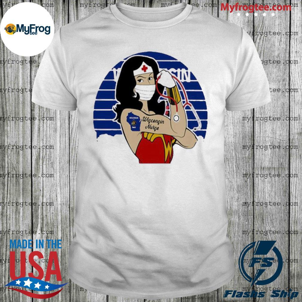 Wonder Woman tattoos wisconsin nurse covid-19 vintage shirt