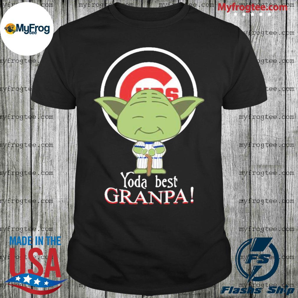 Yoda best grandpa Chicago Cubs shirt