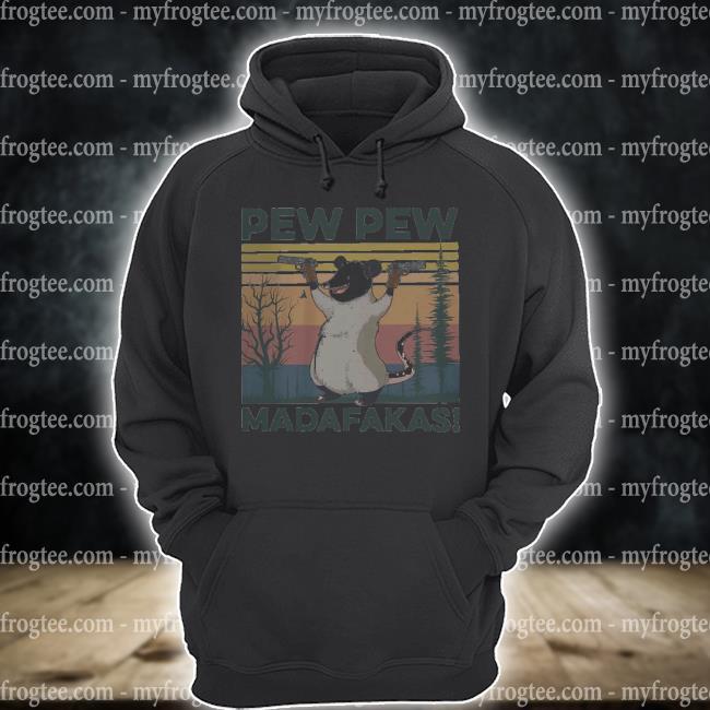 Opossum pew pew madafakas vintage s hoodie