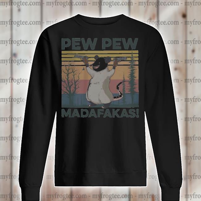 Opossum pew pew madafakas vintage s sweater